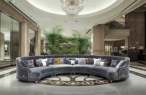 two seater semi circular sofa idfdesign