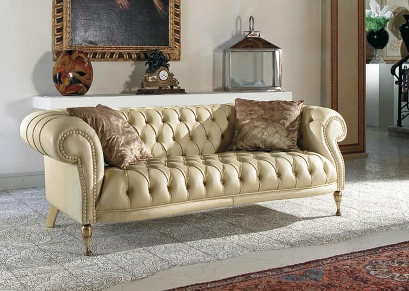 classic sofa sofas dallas quilted for living rooms idfdesign mozart
