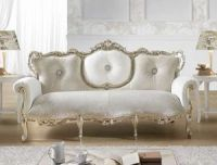 Sofa with silver finishings, Louis XV style | IDFdesign