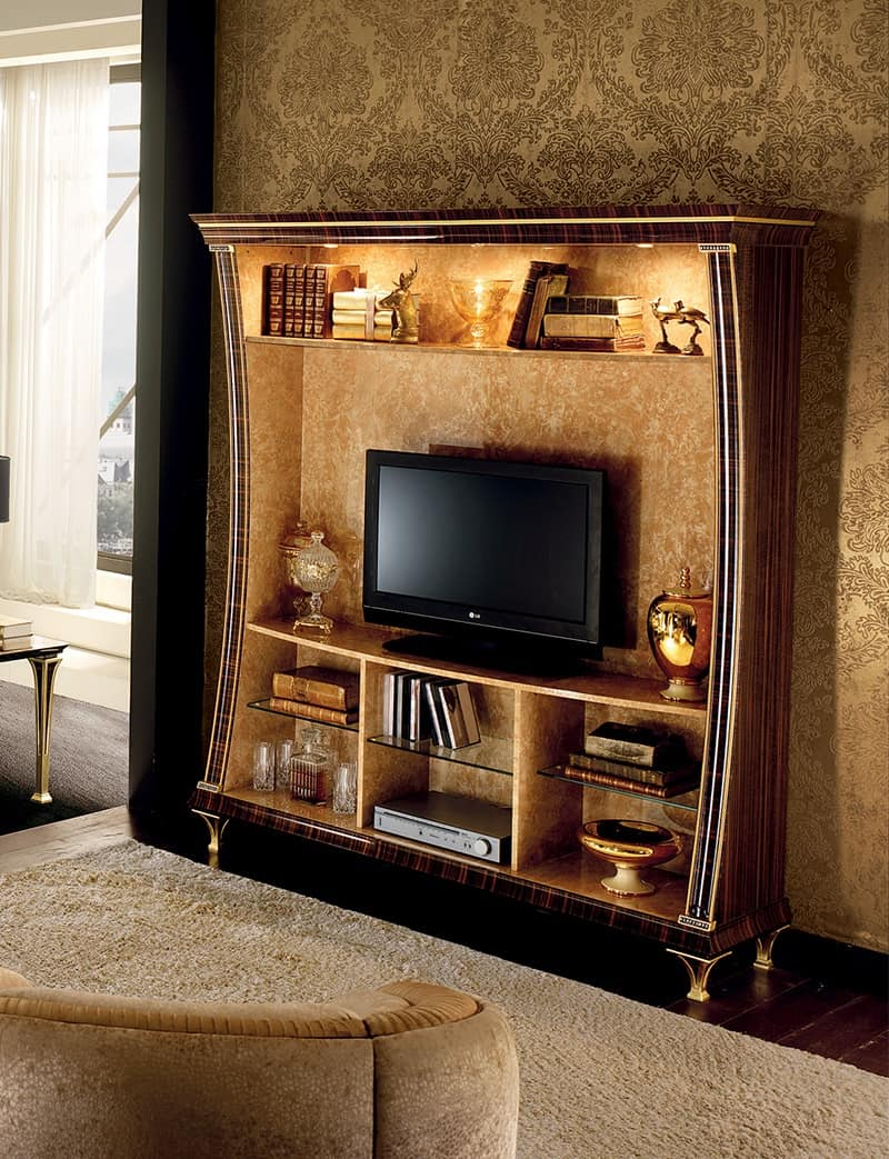 Tv Cabinet With Bookcase Functionality And Design Idfdesign