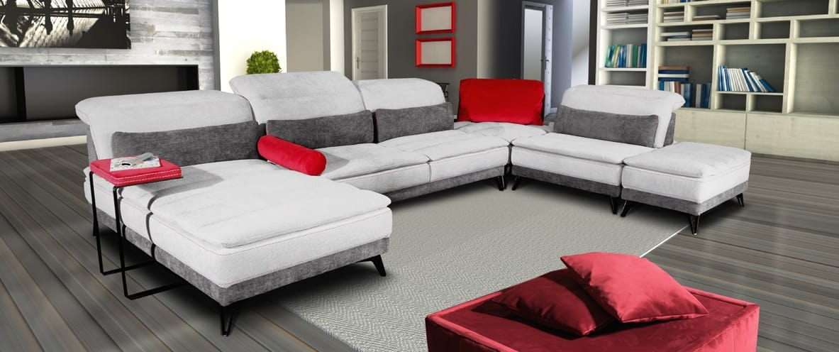 sectional sofa with adjustable backrest