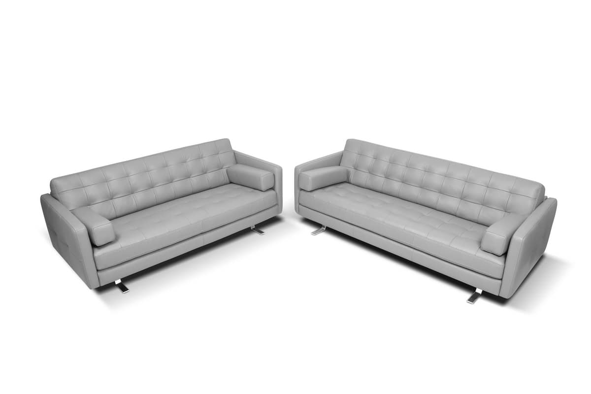 modern square sofa how tall should a side table be with tufted backrest idfdesign