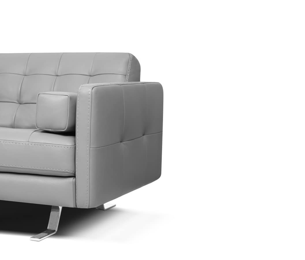 modern square sofa backless sectional with tufted backrest idfdesign