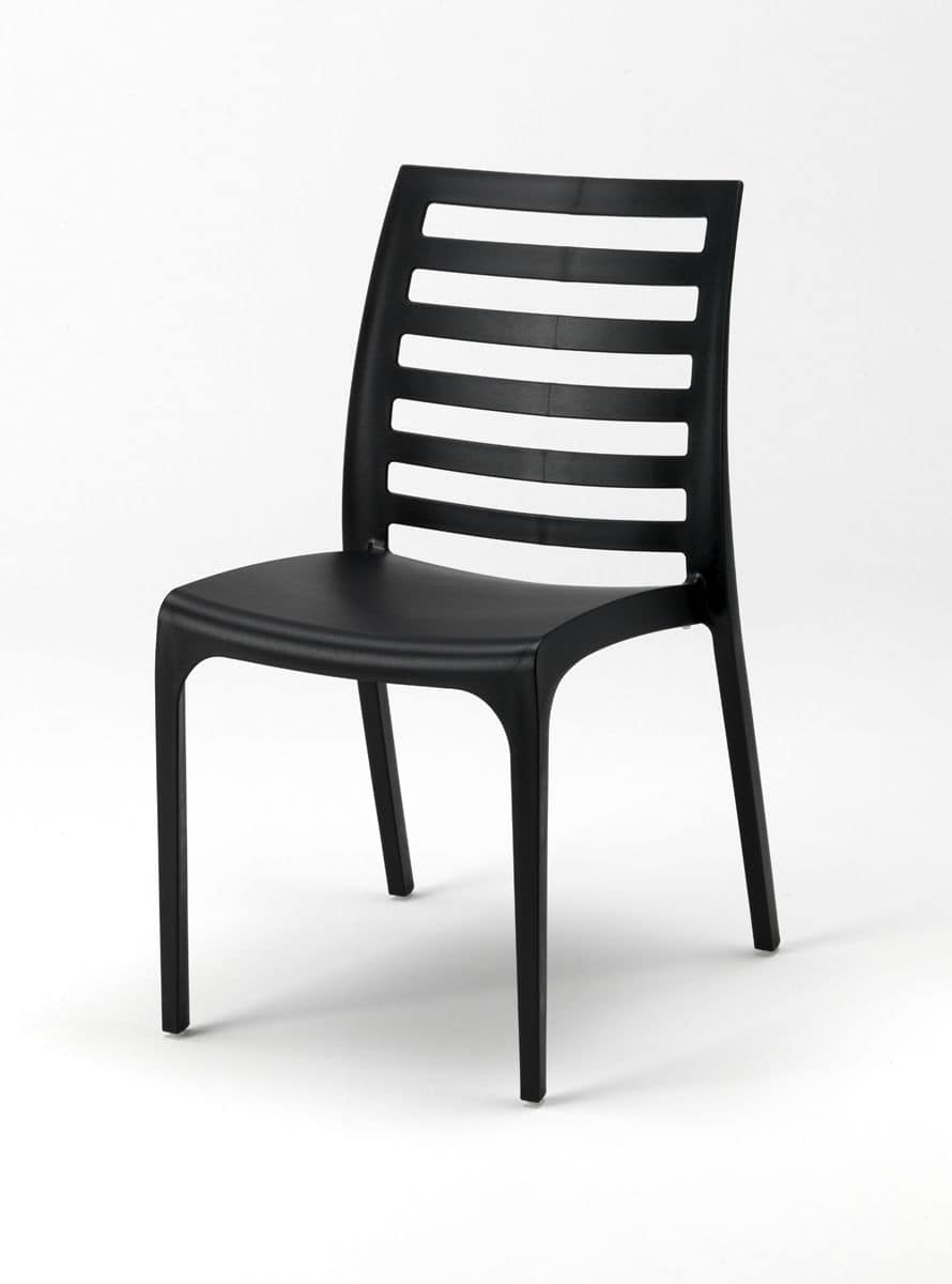 Stackable chair made of plastic for outdoor use  IDFdesign