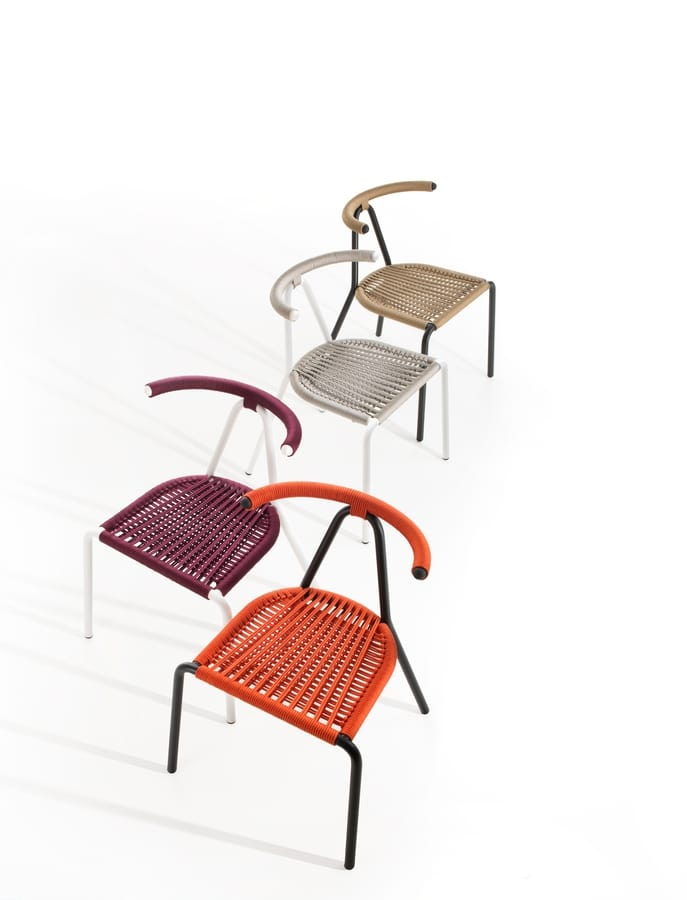 woven plastic garden chairs computer chair without arms metal for outdoor with interwoven seat and backrest toro