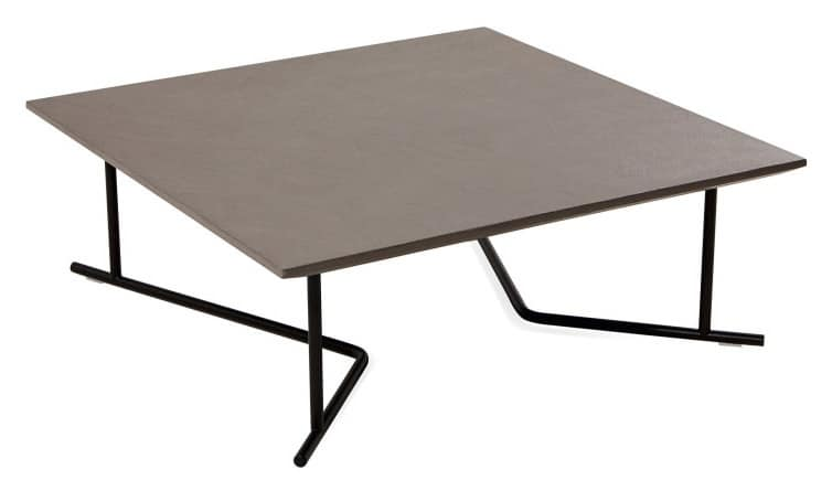 low square coffee table metal base