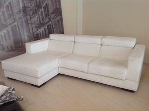 outlet sofas corner sofa bed ebay contemporary idfdesign relax adjustable angular with removable white fabric incontro