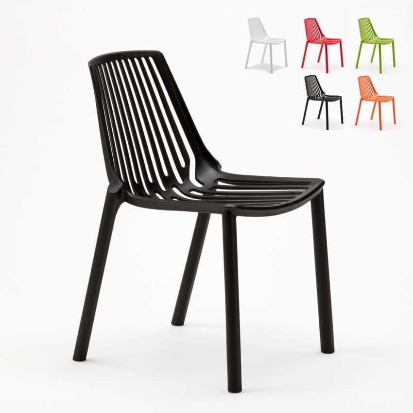 stackable restaurant chairs french bistro for sale outdoor chair idfdesign and indoor bar polypropylene garden design line sl677pp