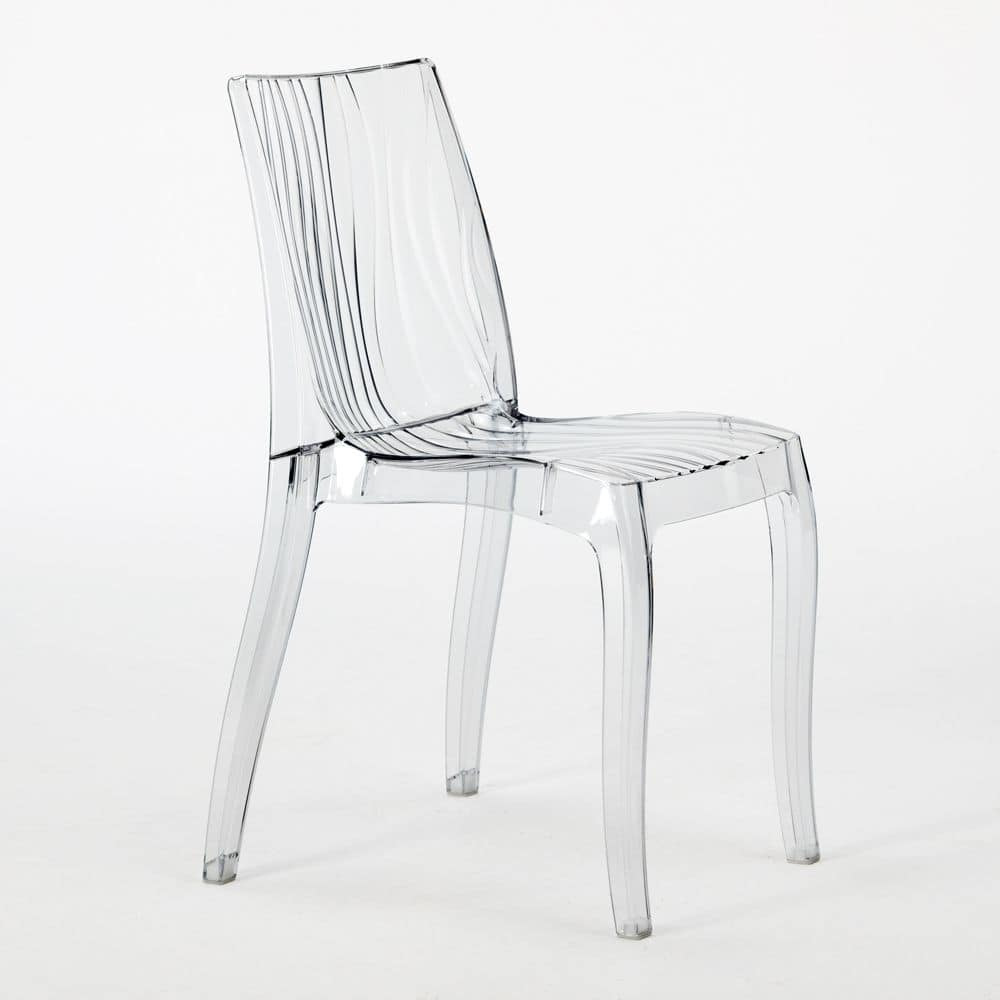 transparent polycarbonate chairs swivel chair lazada stackable made of translucent for indoor and grand soleil in dune s6327