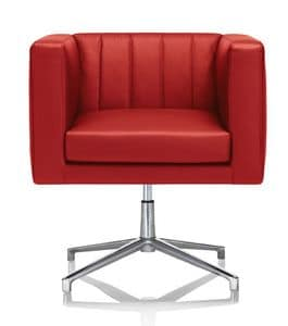chair revolving steel base with wheels desk good for back modern armchair square tubular, contract use | idfdesign