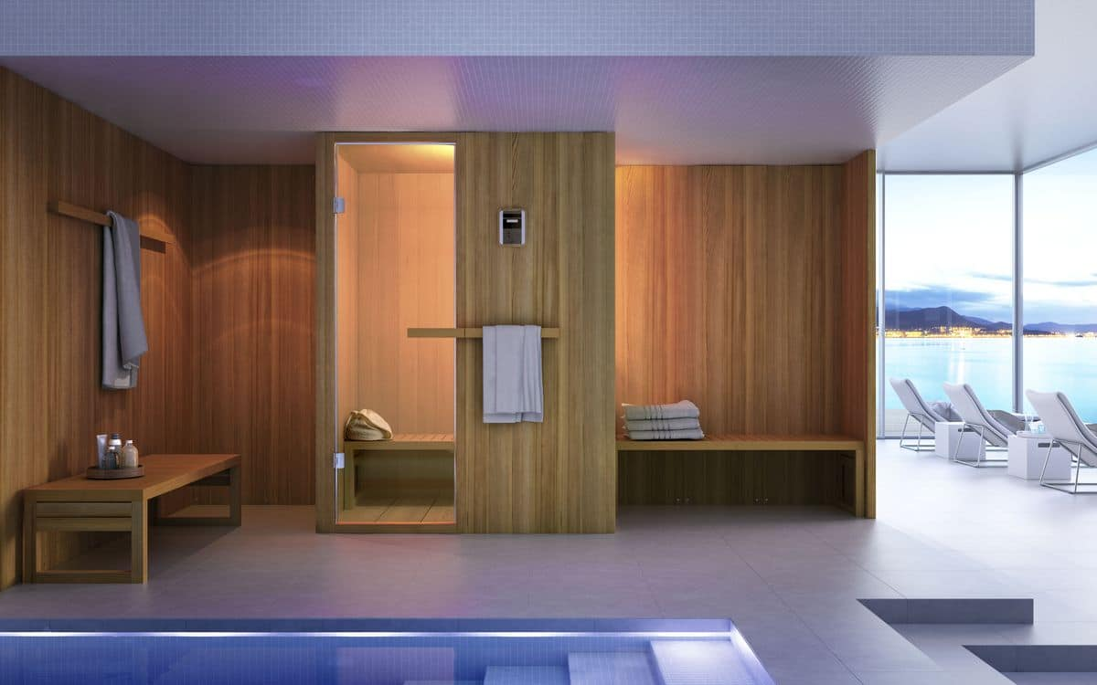 Sauna for modern bathroom wooden innovative and