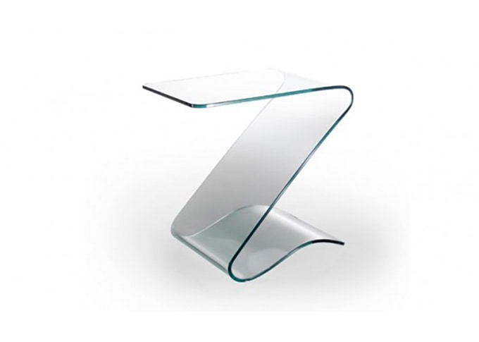 small table in curved glass idfdesign