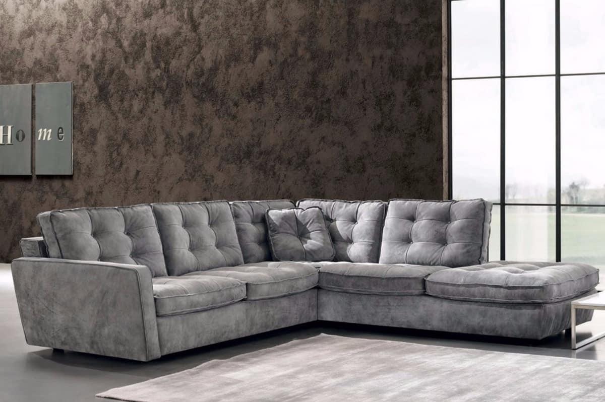 Aspettano solo di essere provati e arredare il vostro nuovo bel salotto. Modular Sofa With Quilted Backrest And Sitting Idfdesign