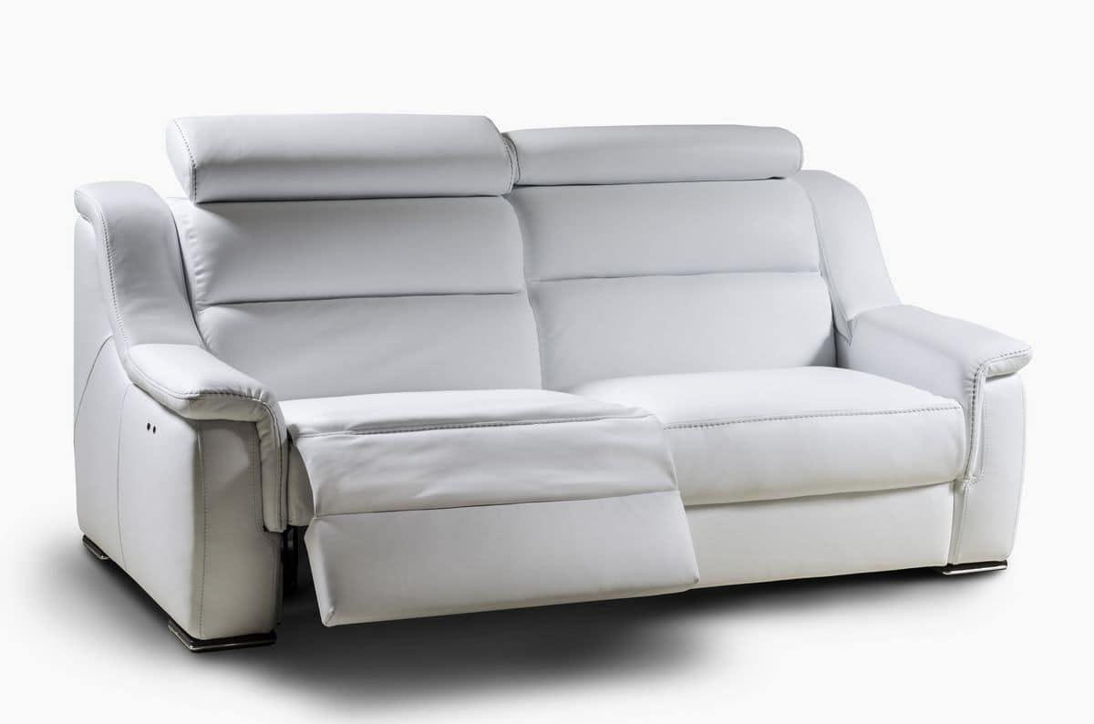 two seater sofa recliner homey design sectional with headrest reclining backrest idfdesign