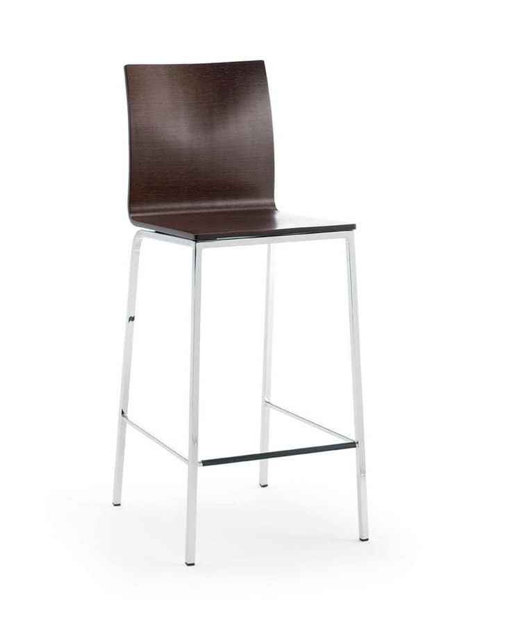 Barstool with metal frame for kitchens and bars  IDFdesign