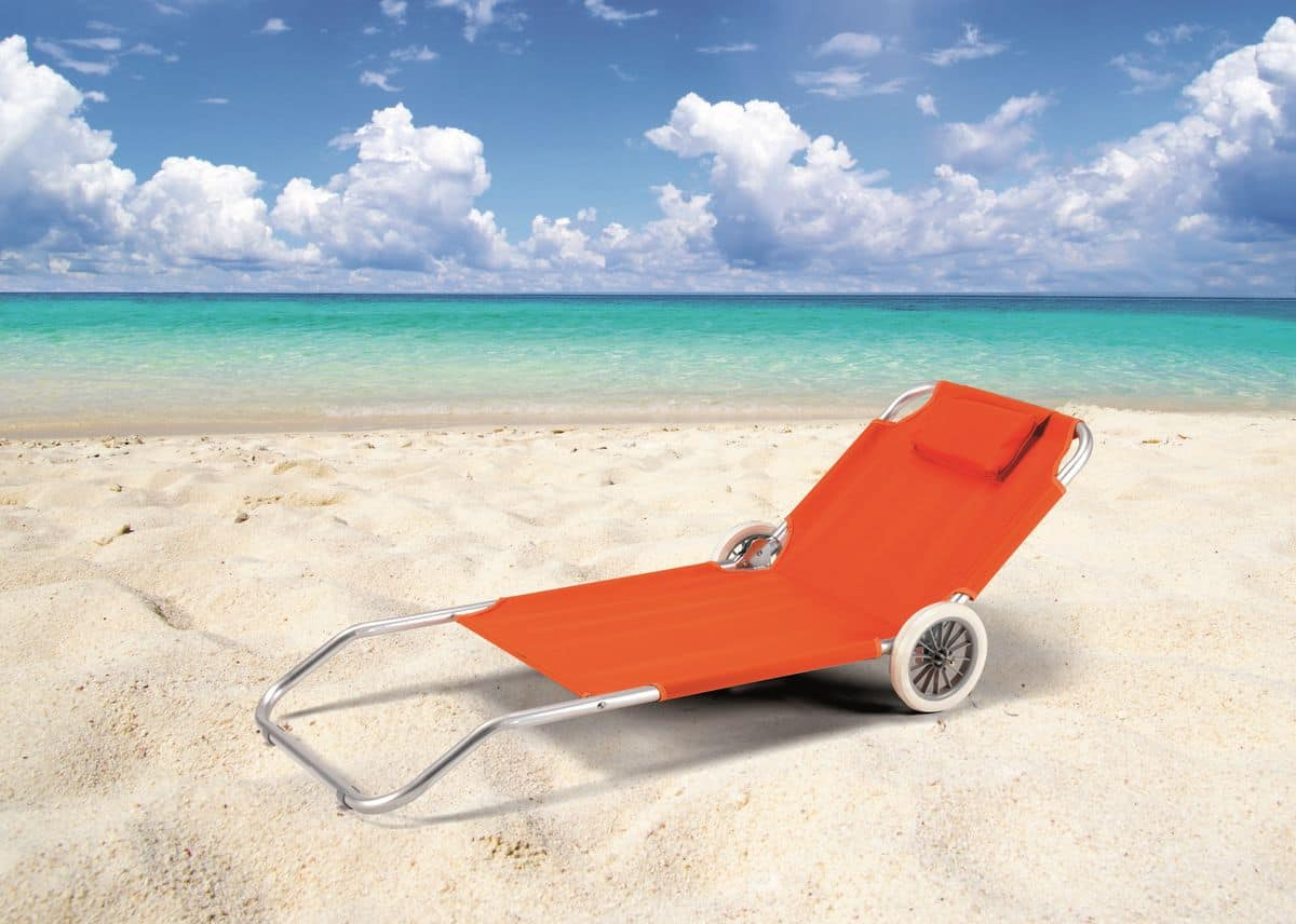 wheeled beach chair wholesale office chairs sun lounger with wheels cushion idfdesign