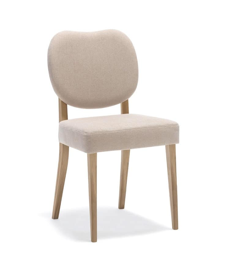 Wooden padded chair for kitchen and dining room  IDFdesign