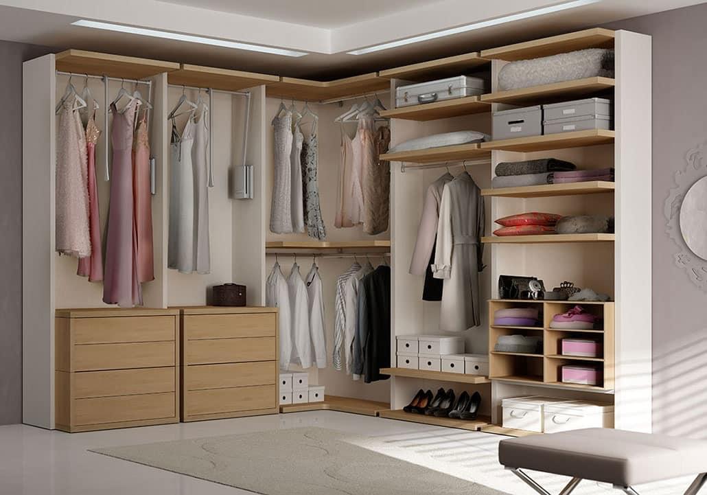 Modern walkin closet with angular element  IDFdesign