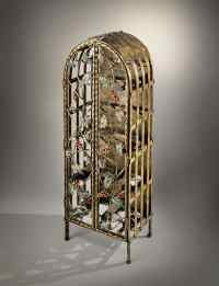Cabinet bottles in wrought iron for wine bars and Wine ...