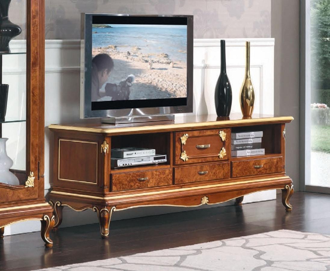 meuble tv bas style classique idfdesign