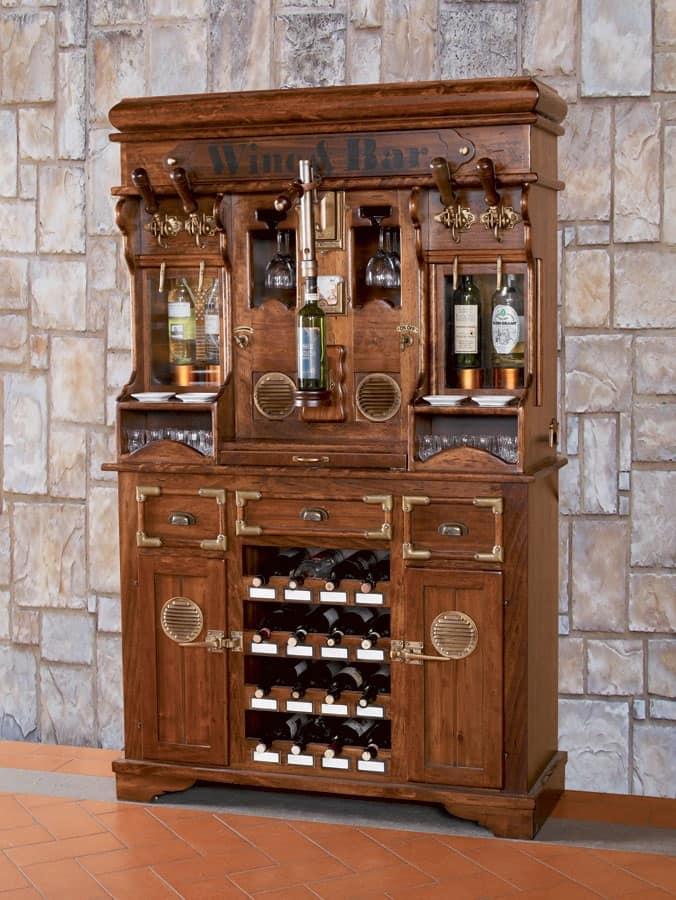 Mobile credenza per enoteca per spinatura alcolici
