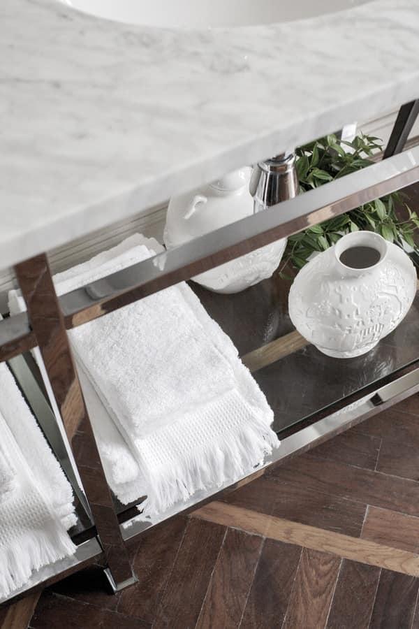 Consolle in marmo di Carrara con doppio lavabo  IDFdesign
