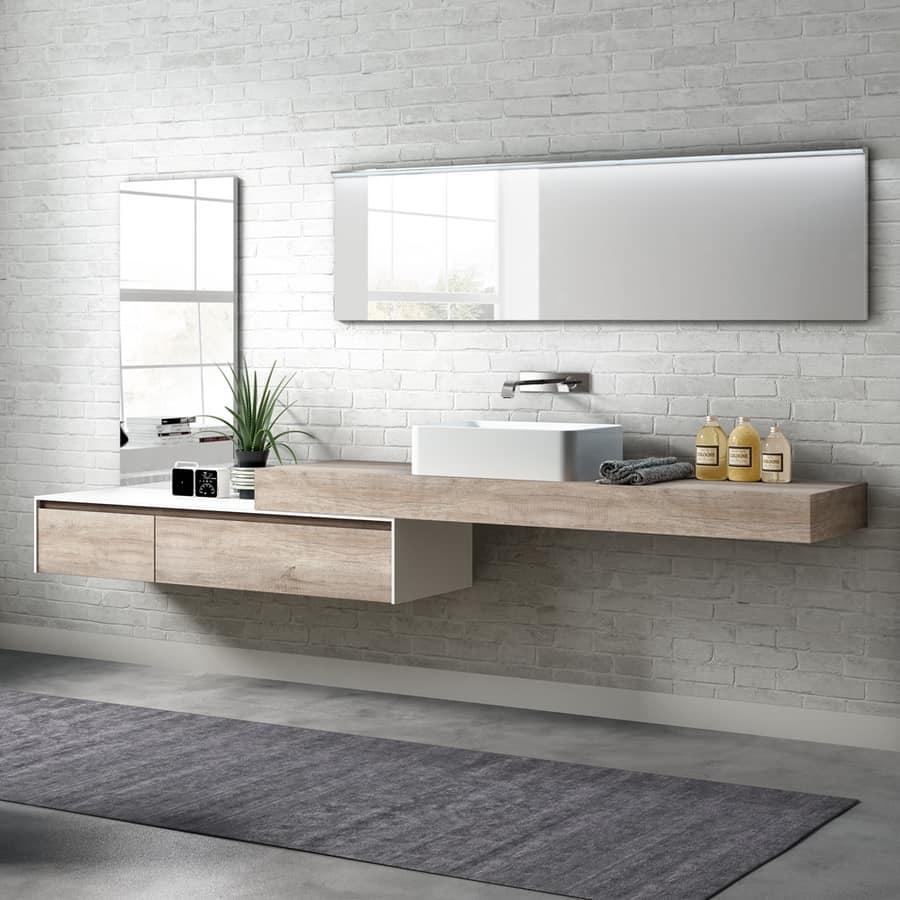 Mobile bagno in melaminico con lavabo esterno  IDFdesign