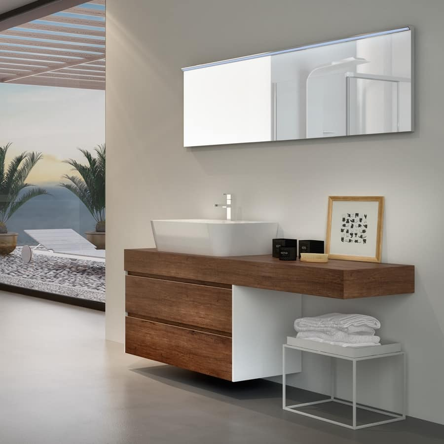Mobile bagno in melaminico con lavabo esterno in ceramica  IDFdesign