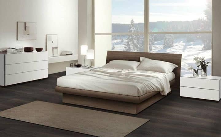 Arredamento per camera da letto letto in legno dal design contemporaneo  IDFdesign