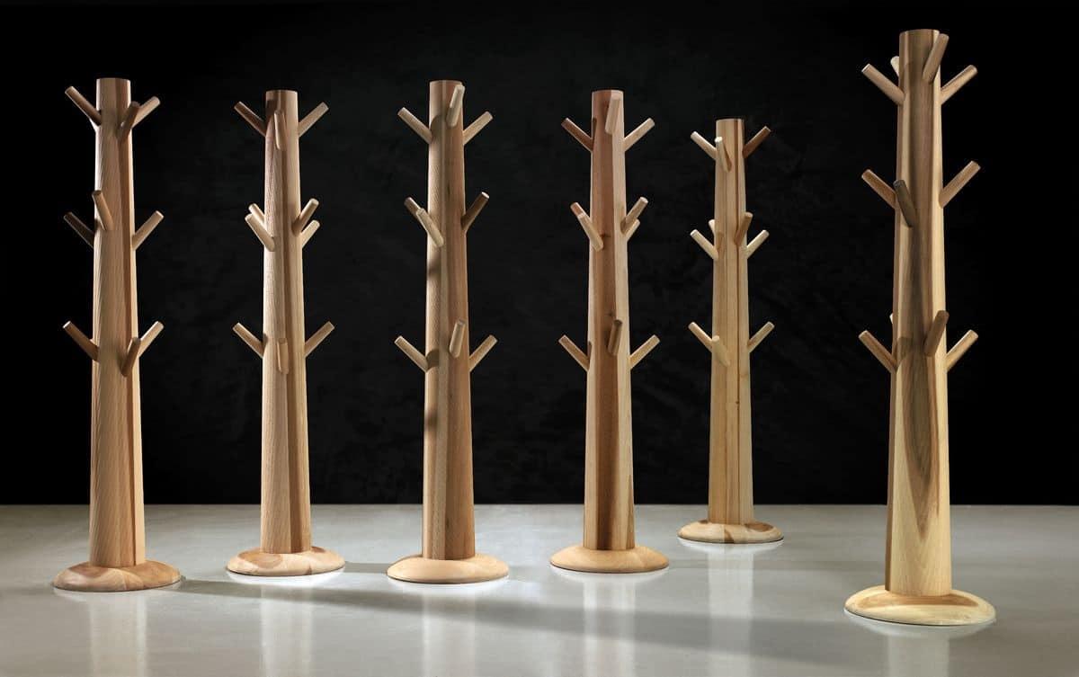 Appendiabiti in legno massello con zavorra per Soggiorno