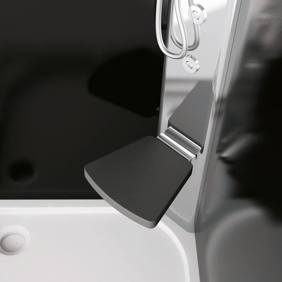Box doccia con seduta in cristallo per bagno moderno  IDFdesign
