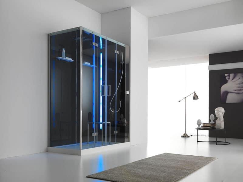 Box doccia a parete bagno di vapore display LCD  IDFdesign