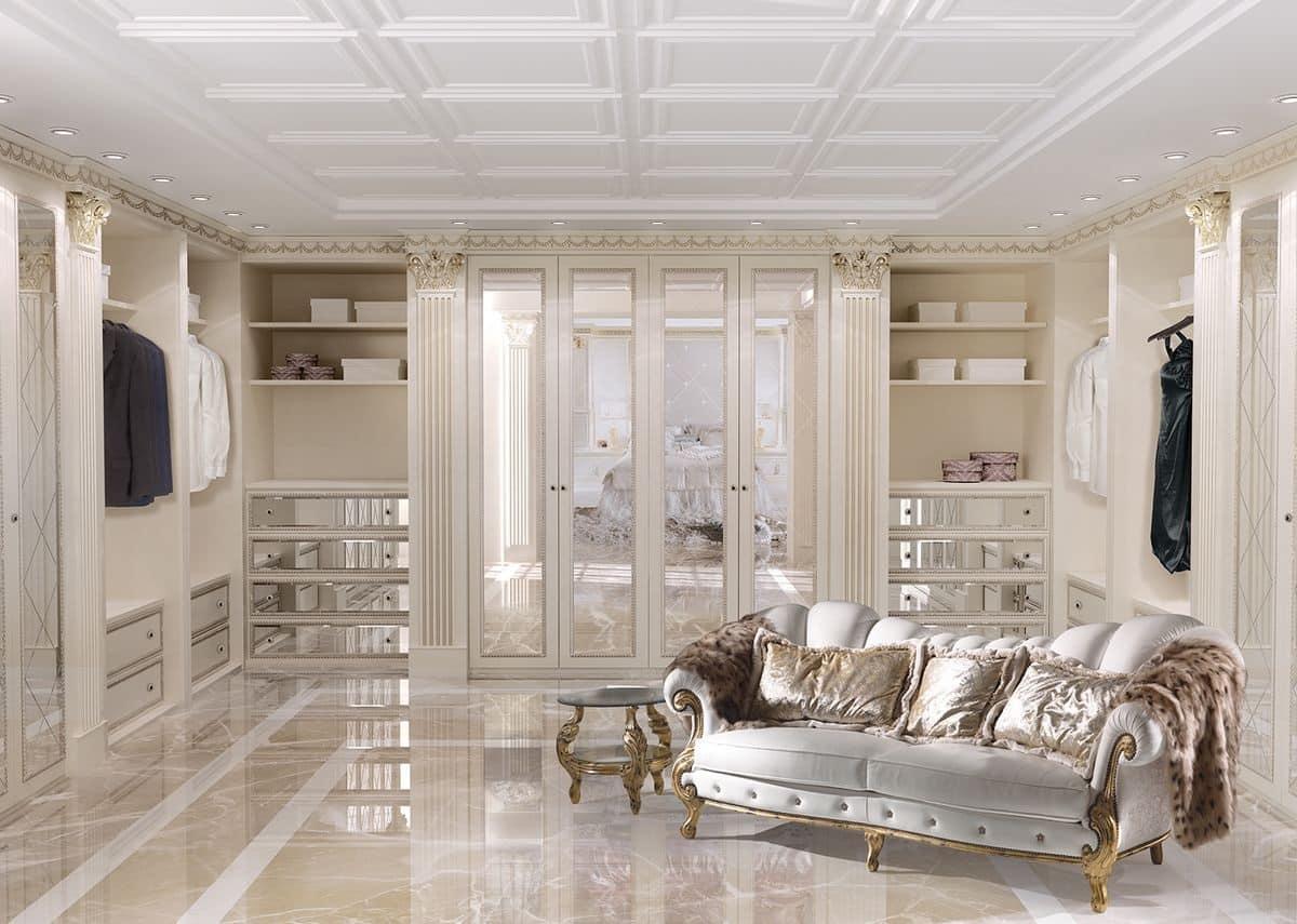 Cabina armadio personalizzabile in stile classico di lusso
