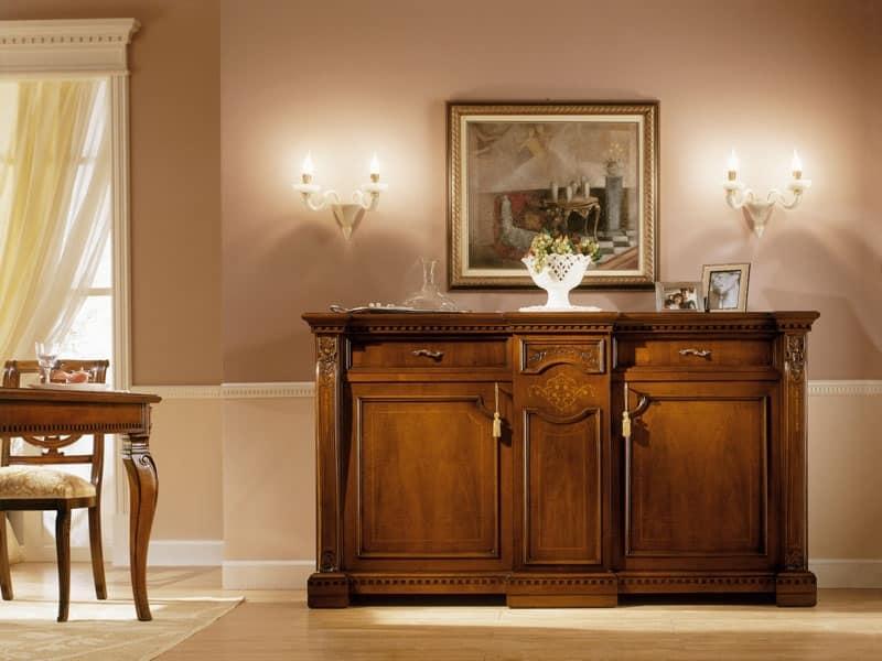 Credenza classica di lusso in legno massello per Soggiorno  IDFdesign