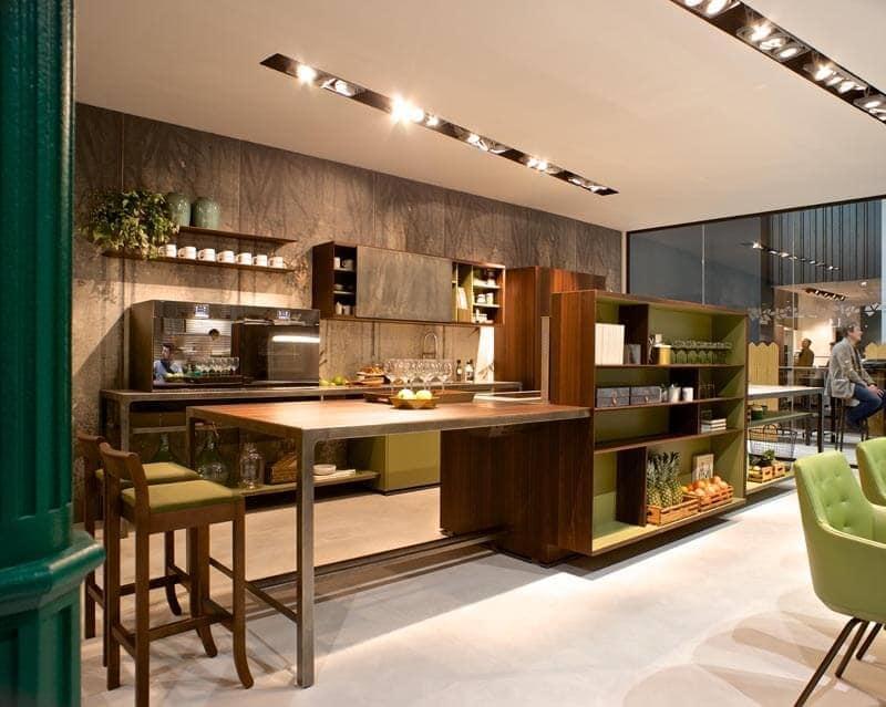 Isola per cucina con tavolo e mobile multifunzione  IDFdesign