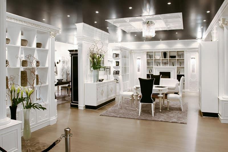 Parete decorativa per salotto modulare di lusso  IDFdesign