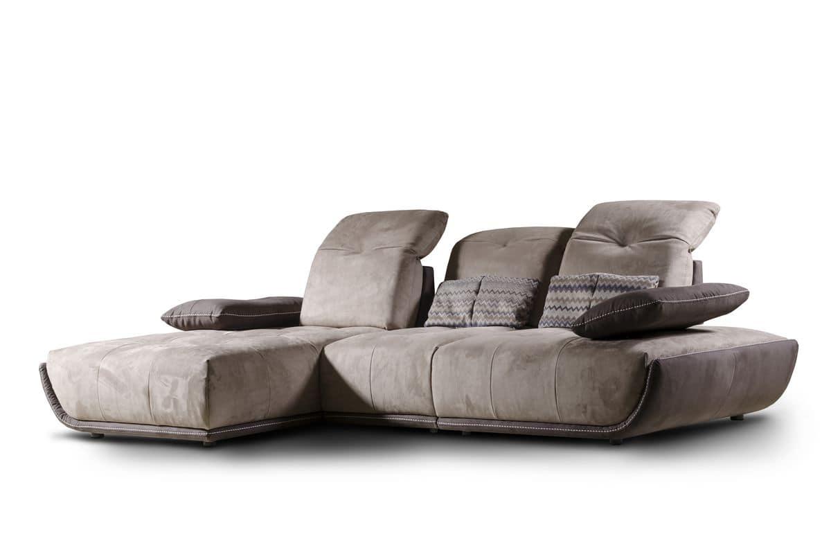 Divano con chaise longue schienale reclinabile  IDFdesign