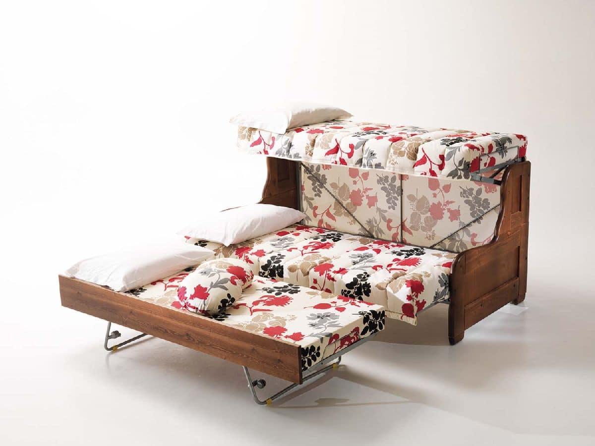 Divano letto sfoderabile per salotto stile rustico  IDFdesign