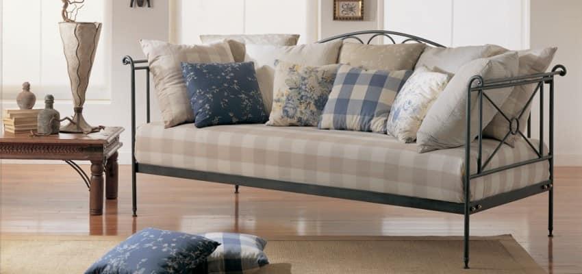 Divano letto in ferro battuto per appartamenti  IDFdesign