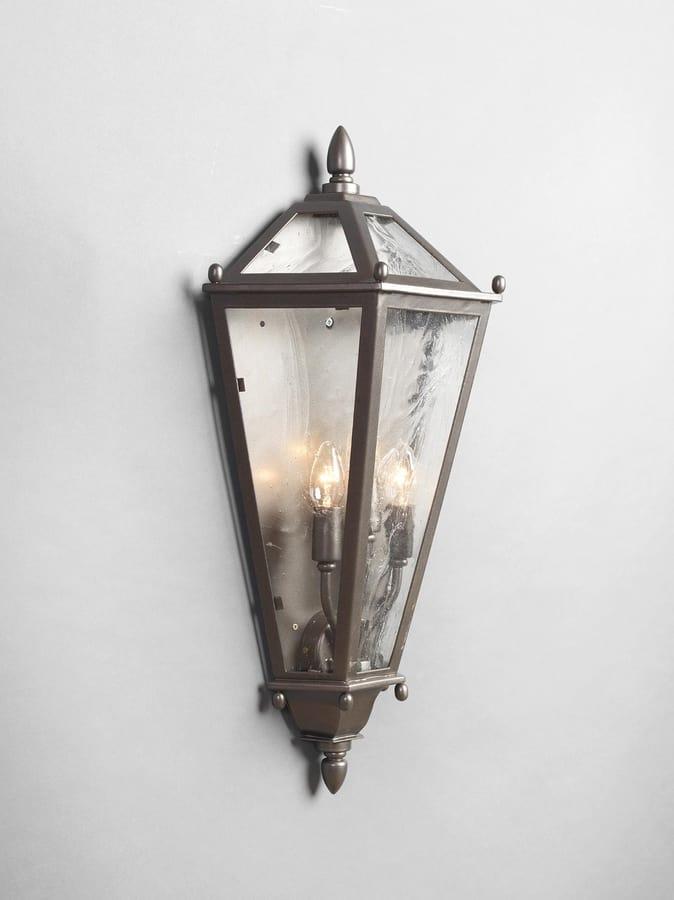 Luci da esterno lanterna bianco antico con 3 candele led effetto fiamma bianco. Mezza Lanterna Da Esterno Idfdesign
