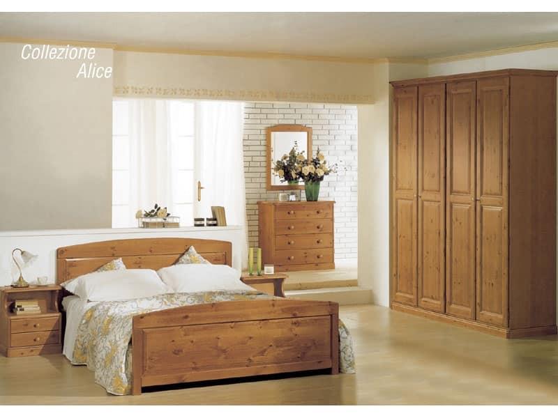Abbiamo pensato a un programma di letti in legno massello, pensati per arredare la cameretta classica e per la matrimoniale, con tutto lo stile, il fascino. Letto In Legno Per Baite E Hotel In Stile Rustico Idfdesign