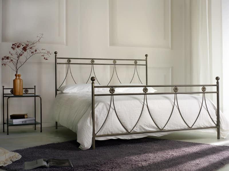Letto matrimoniale classico in metallo per Camera da letto  IDFdesign