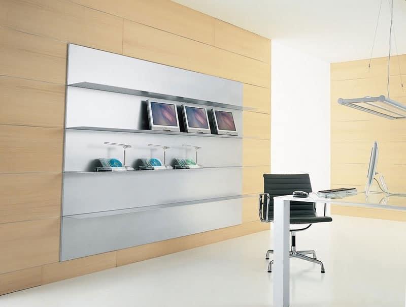 Mensola lineare in alluminio estruso per sala lettura