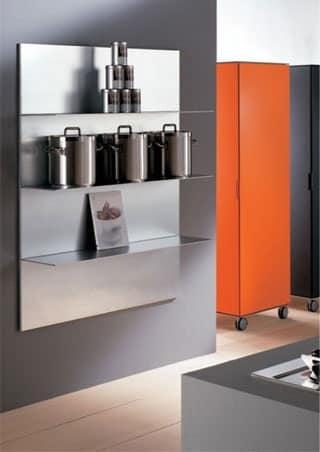 Ripiani in alluminio per cucina in stile lineare  IDFdesign