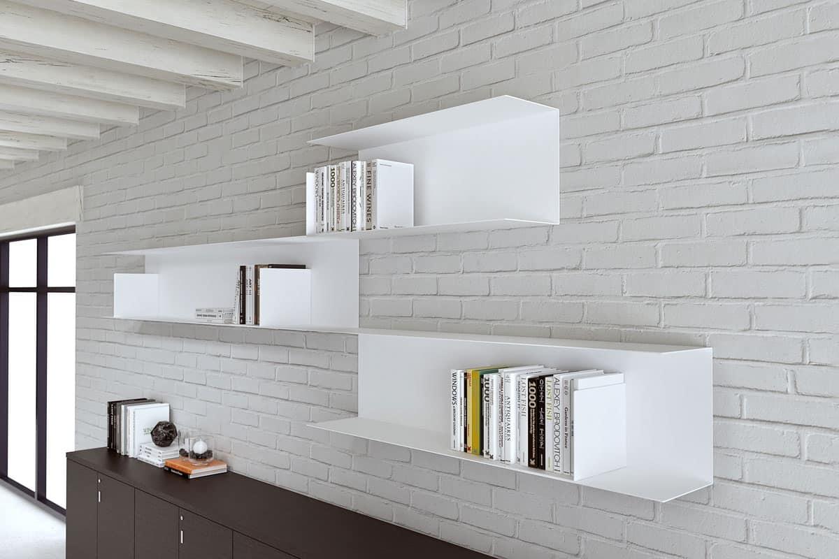 Libreria modulare in acciaio per la casa e lufficio  IDFdesign