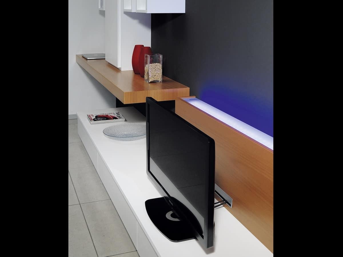 Sistema per arredamento modulare con porta TV  IDFdesign