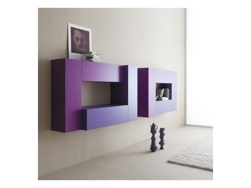 Mobili componibili per soggiorno fissaggio a parete