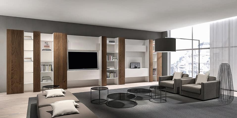 Libreria moderna per soggiorno mobile tv salotto  IDFdesign