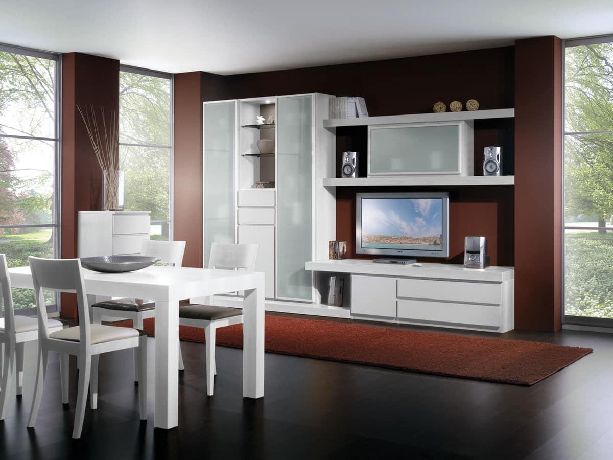 Set di mobili per soggiorno con vetrine e mensole  IDFdesign