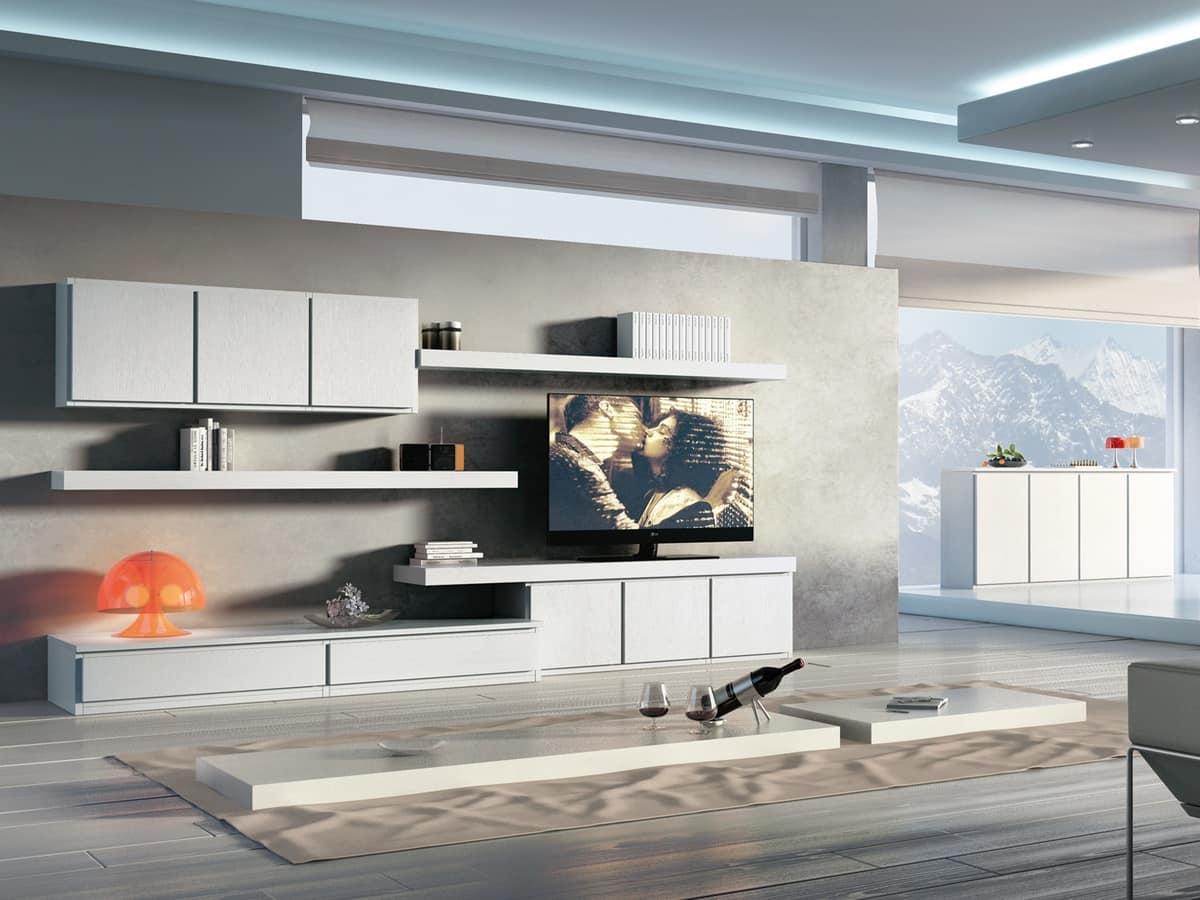 Complesso di mobili componibili per soggiorni moderni